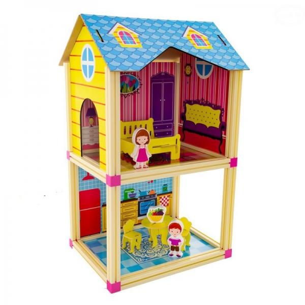 Malý domček pre bábiky Euro Baby - modrý