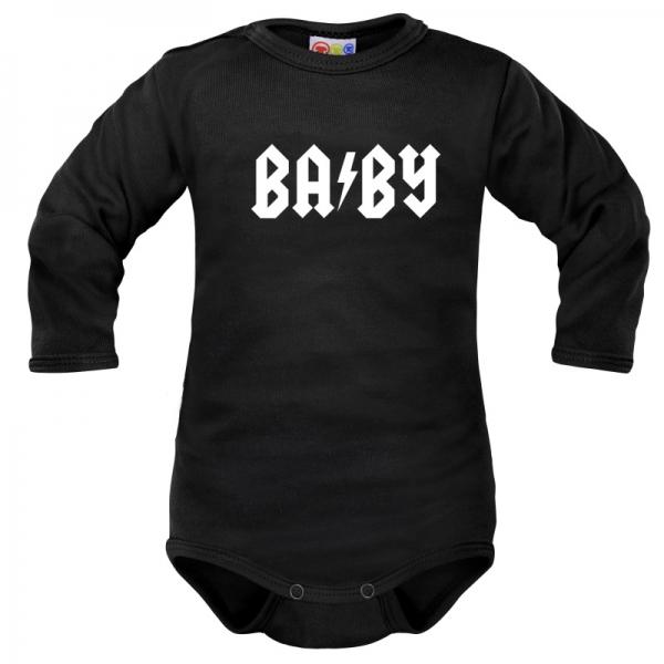 Body dlhý rukáv Dejna Baby - čierne, veľ. 80