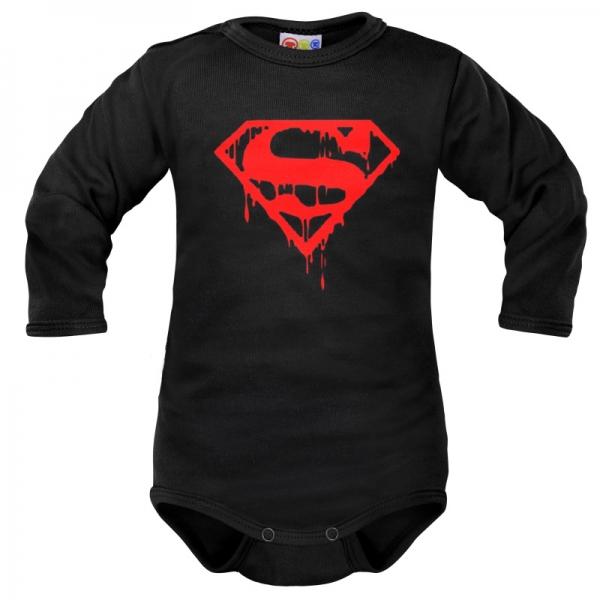 Body dlhý rukáv Dejna Super Baby - čierne, veľ. 80