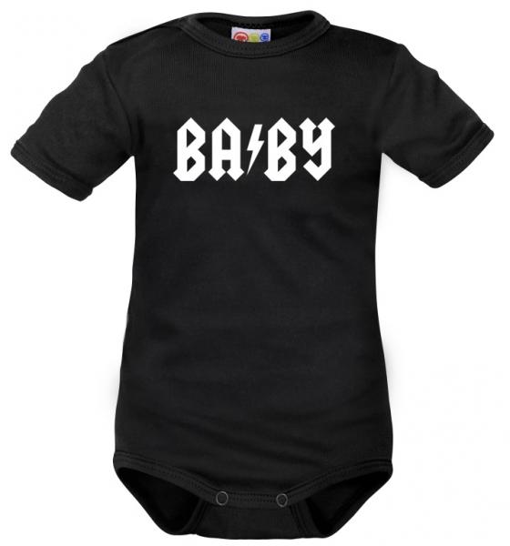 Body krátký rukáv Dejna Baby - čierne, veľ. 80