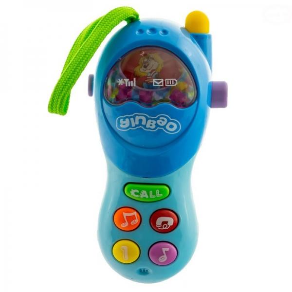 Interaktívna hračka Euro Baby s melódiu Mobil - modrý