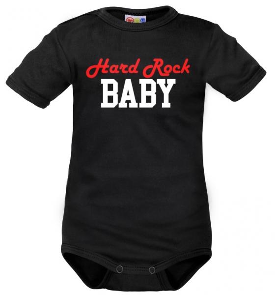 Body krátký rukáv Dejna Hard Rock Baby - čierne, veľ. 86