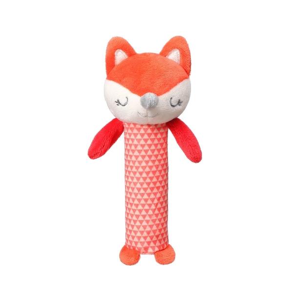 BabyOno Plyšová pískacia hračka Fox Vincent, 17 cm