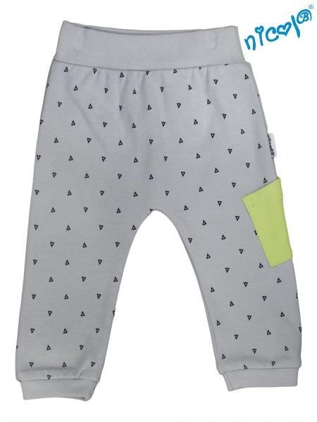 Kojenecké bavlnené tepláky Nicol, Boy - sivé, veľ. 86-86 (12-18m)