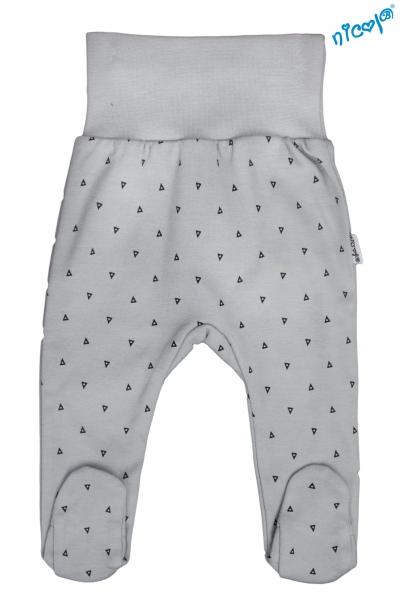 Dojčenské polodupačky Nicol, Boy - sivé, veľ. 62-62 (2-3m)