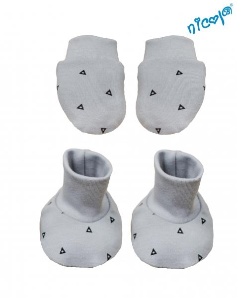 Dojčenská sada Nicol - rukavičky s topánočkami Boy