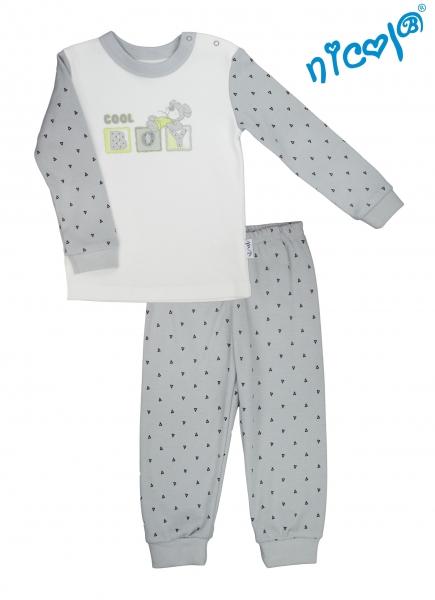 Detské pyžamo Nicol, Boy - sivé/smotanová, veľ. 92