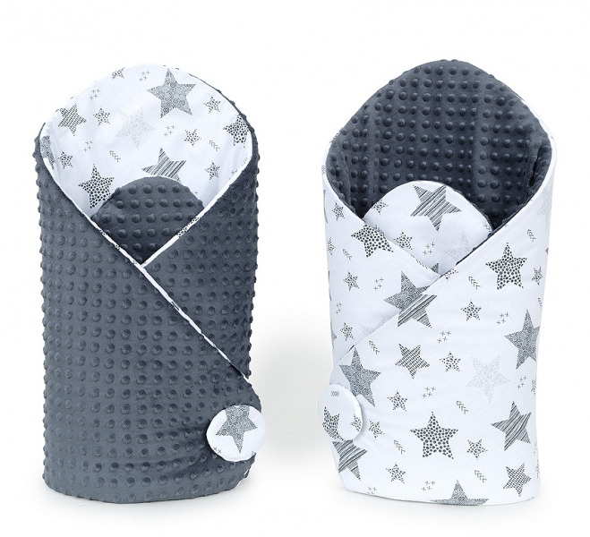 Mamo Tato Obojstranná zavinovačka Minky Baby - Starmix sivá / grafit