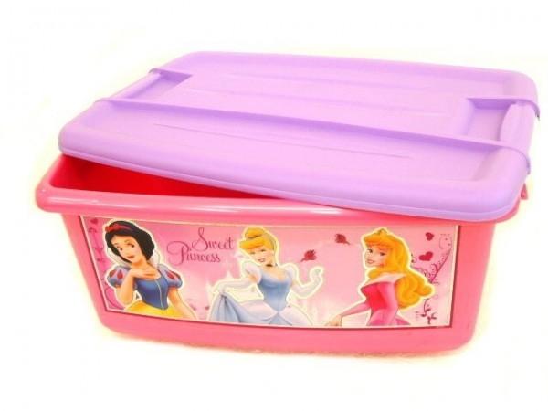 Box úložný ružový Disney Princezné plast 43x20x29cm