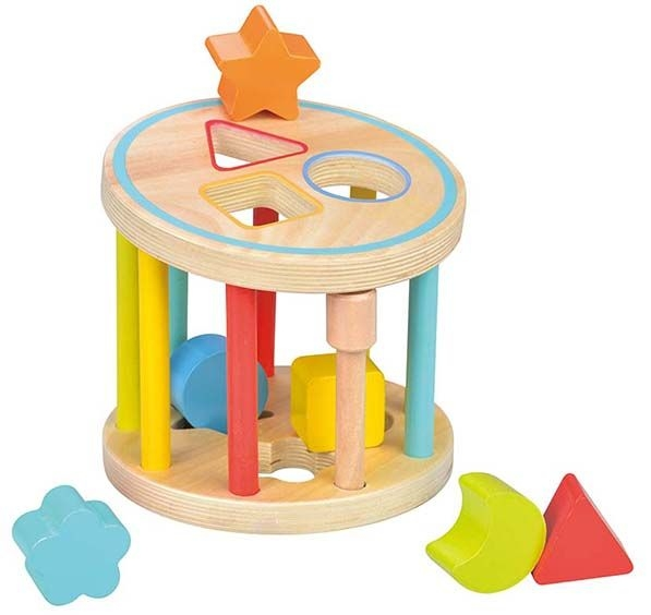 Lelin Edukačná guľatá vkladačka s kockami