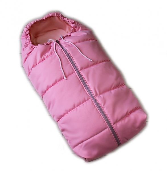 Detský fusak Baby Nellys ARTIC LUX velvet, 95 x 45 cm - ružový