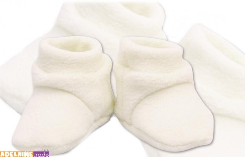 TERJAN Topánočky / ponožtičky POLAR - biele