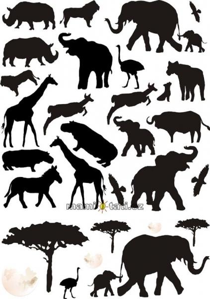 NELLYS Nálepky, dekorácie na stenu 70x100 cm - Afrika