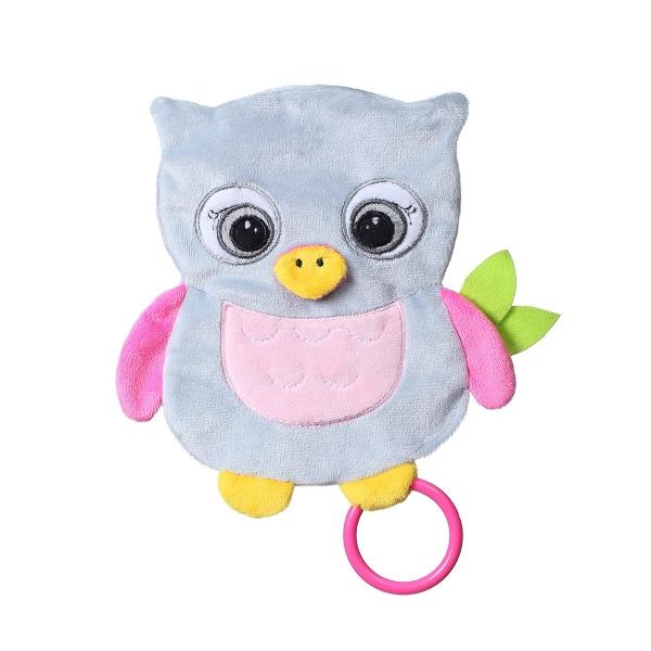 BabyOno Šuštiace maznáčik - Flat Owl Celaste