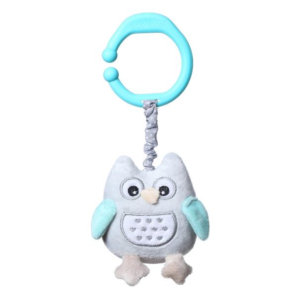 BabyOno Závesná hračka s vibrácií Owl Sophia - modrá
