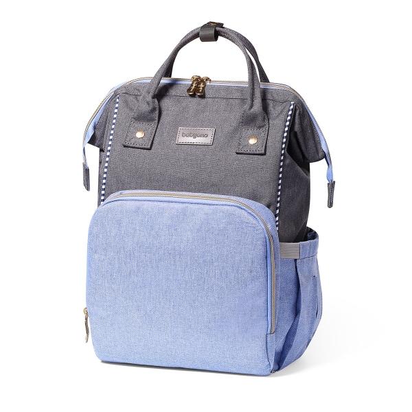 BabyOno Batoh, taška ku kočíku Oslo Style + prebaľovacia podložka zdarma - modrá