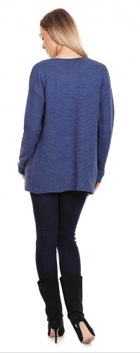 Be MaaMaa Tehotenský svetrík, kardigan s vreckami - jeans