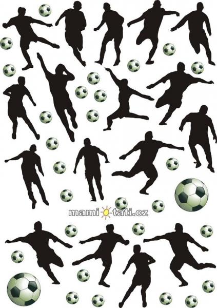 Nálepky, dekorácie na stenu 70x100 cm - Futbal
