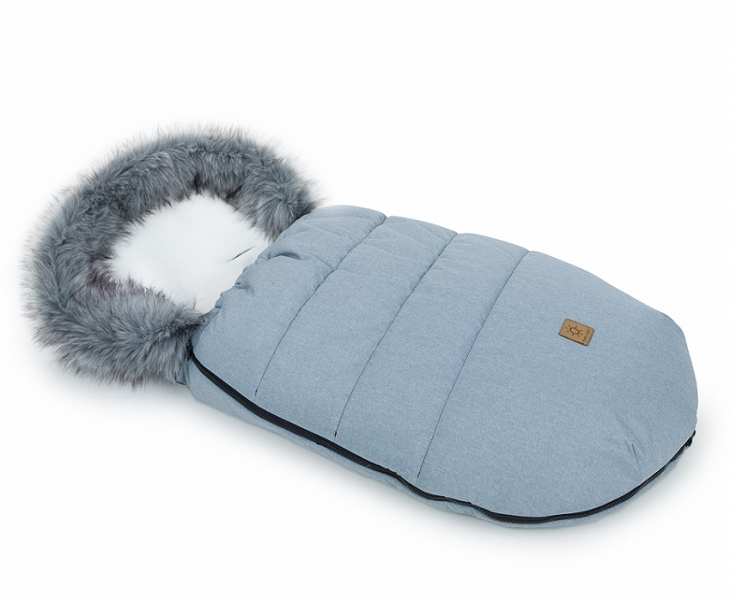 Mamo Tato Zimný fusak Lux s kožušinkou, 50 x 100cm -  Sivá/ecru/bavlněný