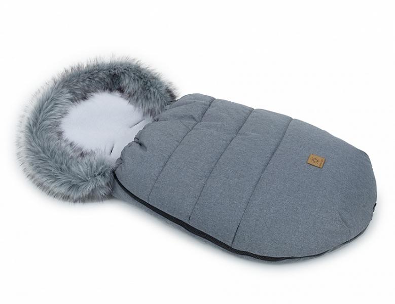 Mamo Tato Zimný fusak Lux s kožušinkou, 50 x 100cm -  Grafit/sivá/bavlněný