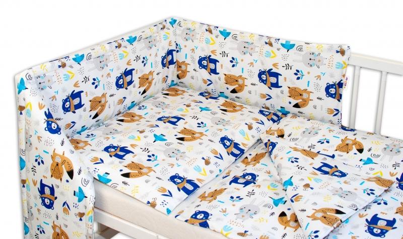 Baby Nellys Mantinel s obliečkami Forest boy-120x90