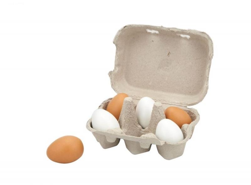 Viga drevené vajíčka v krabičke 6 ks