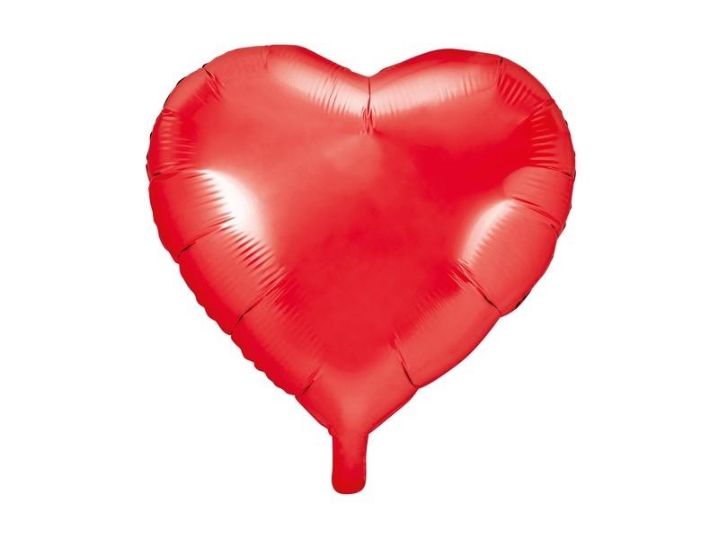 Balónik nafukovacie srdce, 45 cm fóliový