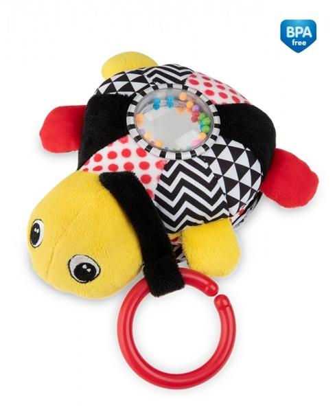 Závesná plyšová svietiaca hračka s melódiu a hrkálkou Canpol Babies Korytnačka - žltá