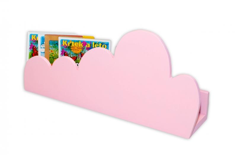 NELLYS Polička na stenu Cloud - ružová