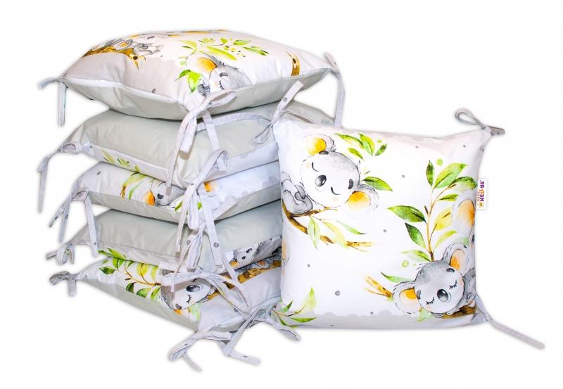 Bavlnený vankúšikový mantinel Baby Nellys Medvedík Koala - sivý