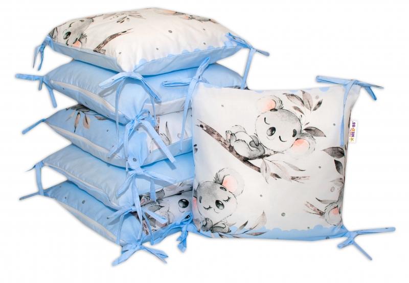 Bavlnený vankúšikový mantinel Baby Nellys Medvedík Koala - modrý