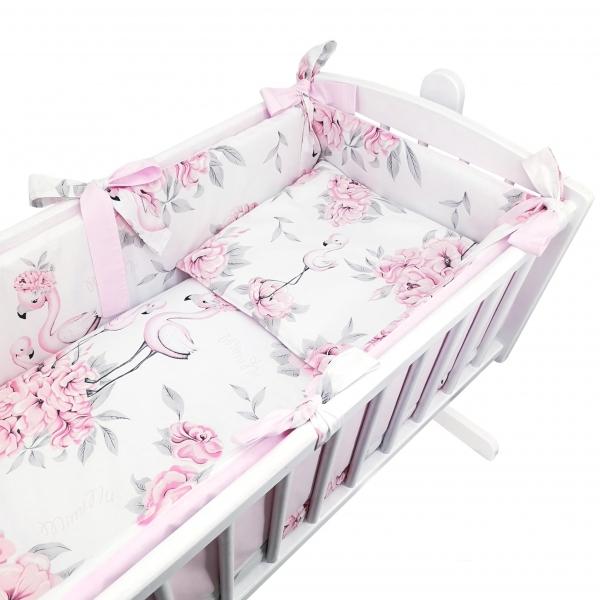 6-dielna súprava do kolísky Baby Nellys, Plameniak - růžový
