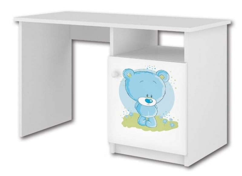 Babyboo Písací stôl Macko modrý, D19