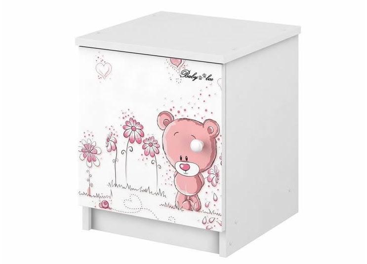 Babyboo Nočný stolík - Macko ružový, D19