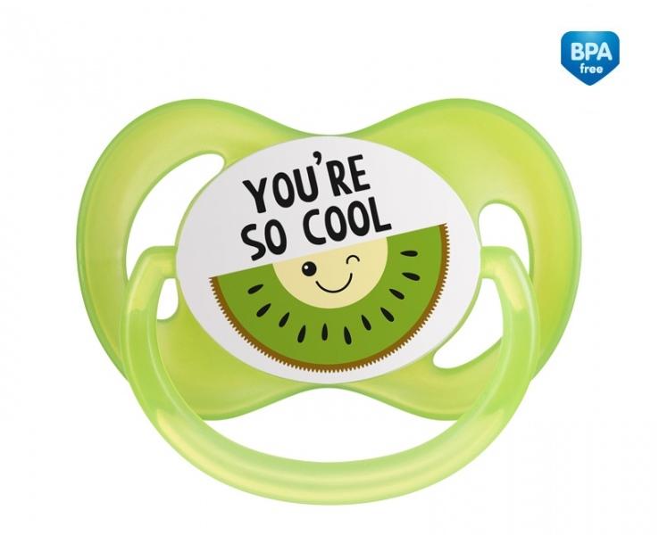 Canpol babies Cumlík symetrický So Cool 6-18 m B - zelený
