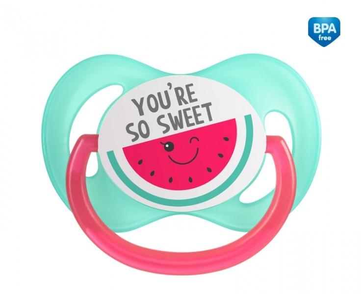 Canpol babies Cumlík symetrický So Cool 6-18 m B - ružový