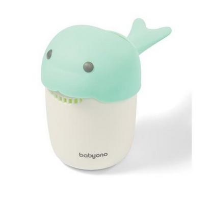 BabyOno Hrnček na kúpanie, umývanie hlavičky Whale - mätový