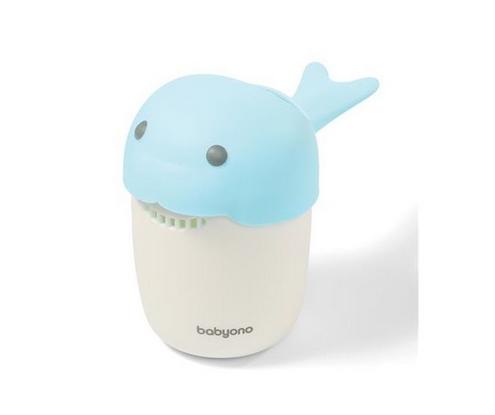 BabyOno Hrnček na kúpanie, umývanie hlavičky Whale - modrý