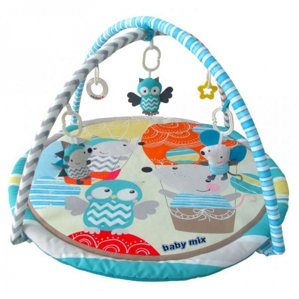 BABY MIX Vzdelávacia hracia deka - Výlet balónom