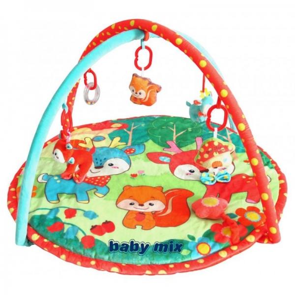 BABY MIX Vzdelávacia hracia deka - Srnky a priatelia
