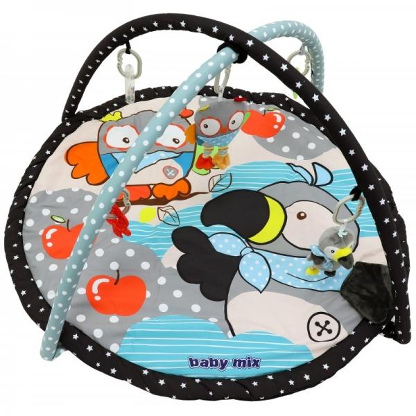 BABY MIX Vzdelávacia hracia deka - Sova a tukan