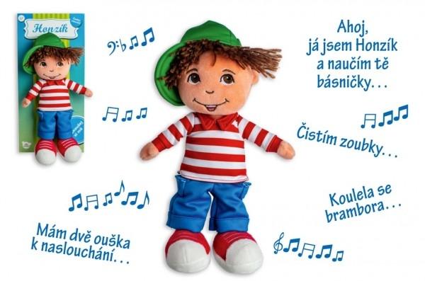 Bábika chalan Honzík handrová plyš 30 cm česky hovoriaci na karte