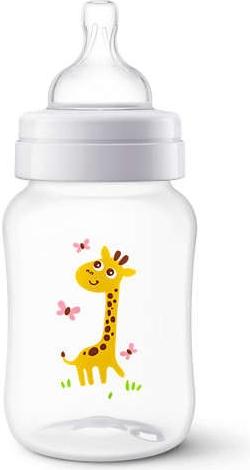AVENT antikoliková fľaštička 260ml - Žirafka