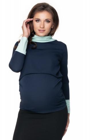 Be Maamaa Tehotenské a dojčiace tričko - granátovo/matové