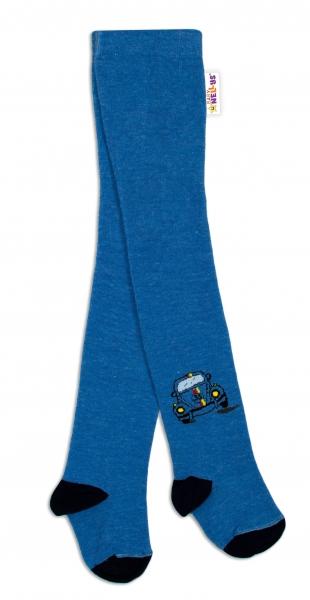 Baby Nellys Bavlnené pančucháče Chrobáčik - jeans, veľ. 92/98