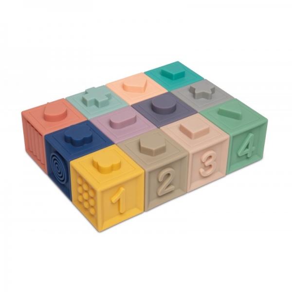 Mäkké senzorické hracie kocky Canpol babies - 12 ks