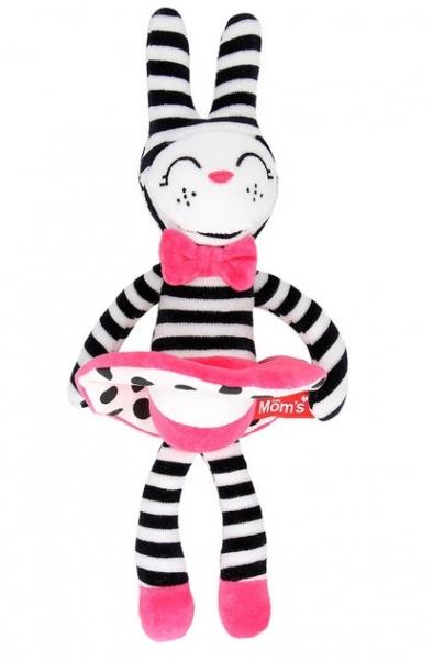 Hencz Toys Plyšová hračka v kontrastných farbách králičia slečna - ružová