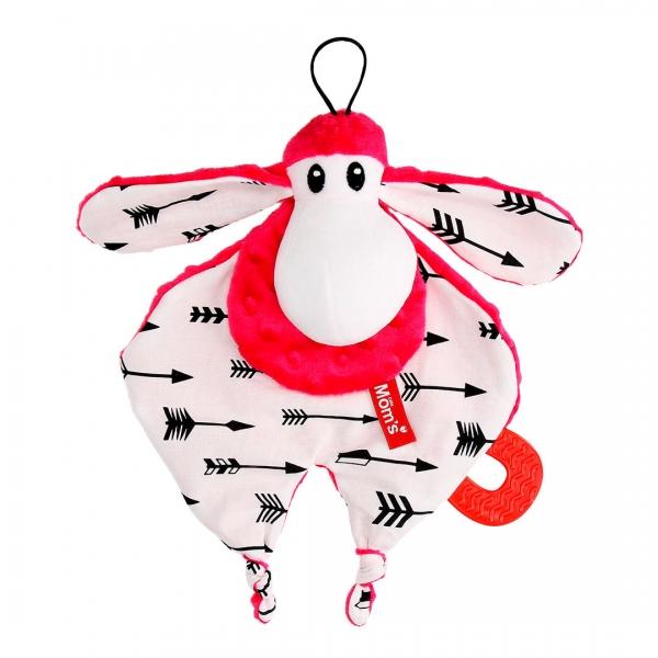 Hencz Toys Plyšová hračka v kontrastných farbách Sheepi - růžová