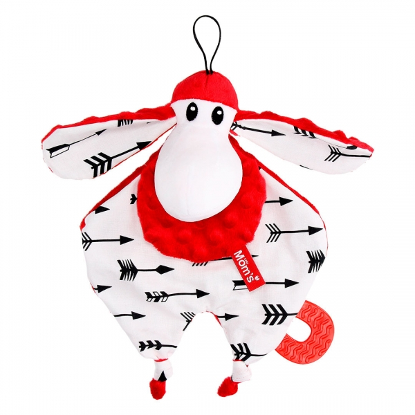 Hencz Toys Plyšová hračka v kontrastných farbách Sheepi - červená
