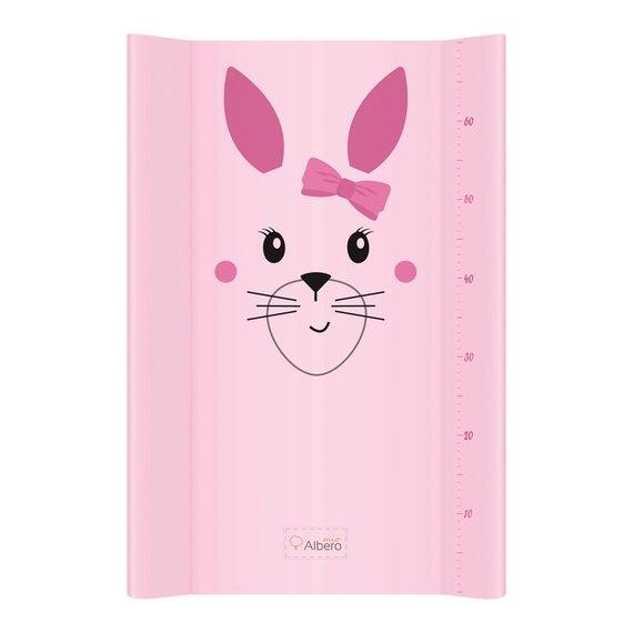 Klups, prebaľovacia podložka - tvrdá - na komodu - Zajačik ružový